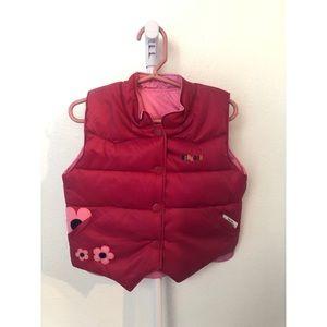 OshKosh Pink Flower Vest 3T